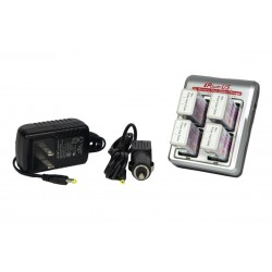 iPower - 9V Smart Charger Combo with (4) Batteries