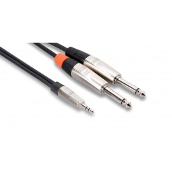 """HOSA - HMP-003Y Pro Stereo Breakout (REAN 3.5 mm TRS to Dual 1/4"""" TS / 3 ft)"""