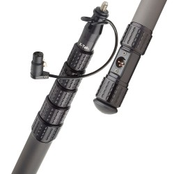 K-Tek - KP9CCR - KlassicPro 9′ - Graphite, 6 Section, Internal Coiled Cabled, Side Exit, Boom Pole