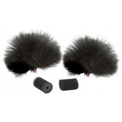 Rycote - Black Lavalier Windjammer (pair)