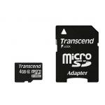 Transcend - 4GB microSDHC Class 6 Memory Card