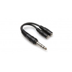 """HOSA - YMP-234 Y Cable (1/4"""" TRS to Dual 3.5 mm TRSF)"""