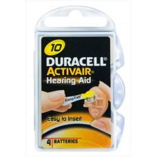 Duracell - Activair DA10 Zinc Air Hearing Aid Batteries (4-pack)