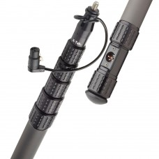 K-Tek - KP16CCR - KlassicPro 16′ - Graphite, 6 Section, Internal Coiled Cabled, Side Exit, Boom Pole
